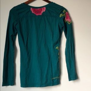 Johnny Was Tops - Johnny Was Embroidered Long Sleeve Floral Top XS